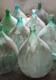 Old italian demijohn Royalty Free Stock Photo