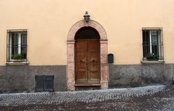Old Italian door royalty free stock photography