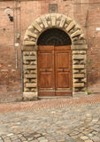 Old italian front door Royalty Free Stock Image