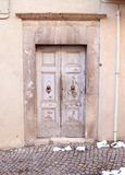 Old Italian front door Royalty Free Stock Image