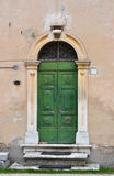 Old italian frontdoor Stock Photo