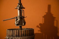 Old Italian Grape Crushing Machine Royalty Free Stock Photography