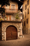 Old Italian house. On quite street Stock Images
