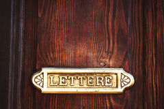 Old Italian letter box Royalty Free Stock Image