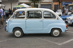 Old italian minivan royalty free stock photos