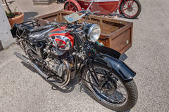 Old italian motorcycle Sertum Side Merci 500 cc (1941) Royalty Free Stock Photography