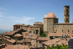 Old Italian own Volterra. View of the old Italian town Volterra in Tuscany, Italy Stock Photography