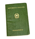 Old italian passport Stock Images