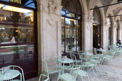 Old Italian pastry shop and coffee bar Stock Photo