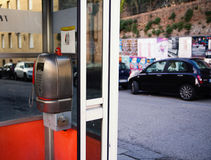 Old Italian phone booth Royalty Free Stock Image