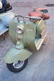 Old italian scooter Royalty Free Stock Images