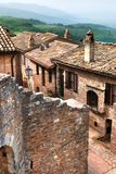 Old italian stone village, Umbria Royalty Free Stock Images