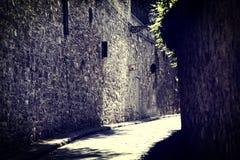 Old italian village. Old italian street village, beautiful landscape Royalty Free Stock Photo