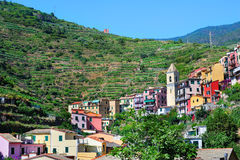 Old Italian village Manarola Stock Photo