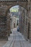 Old italian village in springtime Stock Photo