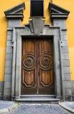 Old italian vintage door in Rome, Italy. Stock Photos