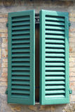 Old italian window Stock Photos
