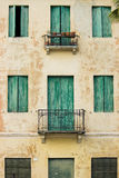 Old italian windows. And balcony Stock Photo