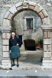 Old italian woman stock photos