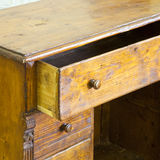 Old italian wooden dresser just restored in a junk shop Royalty Free Stock Photography