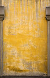 Old Italian Yellow Wall with Posts. Royalty Free Stock Images