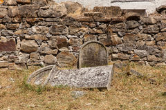 Old Italians Cemetery in  Buje, Croatia Royalty Free Stock Images