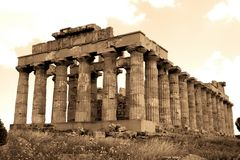 Old Italy, Greek temple Stock Photos