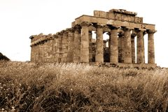 Old Italy, Greek temple in Selinunte Stock Photography