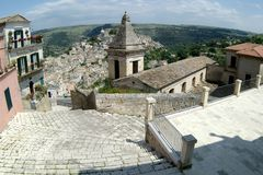 Old Italy, Ragusa city, Sicily Royalty Free Stock Photo