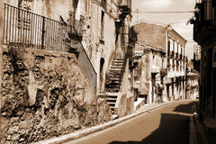 Old Italy ,Sicily, Ragusa city Stock Photography