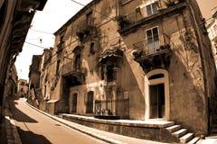 Old Italy ,Sicily, Ragusa city Stock Photos