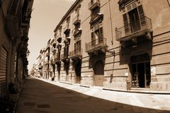 Old Italy,Sicily, Trapani city Stock Photo