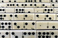 Old ivory domino Royalty Free Stock Images