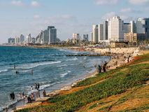 Old Jaffa Beach stock images