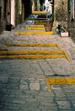Old Jaffa Pedestrian Path. And steps Stock Photos