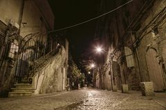 Street in Old Jaffa in Tel Aviv. Old Jaffa in Tel Aviv in Israel. Old architecture and streets Stock Photography
