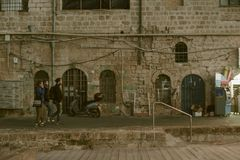 Old Jaffa in Tel Aviv. People, architecture and buildings Royalty Free Stock Photography