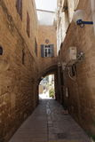 Old Jaffa typical Narrow Street - Tel Aviv Royalty Free Stock Images