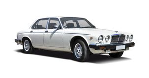 Old Jaguar XJ Royalty Free Stock Images