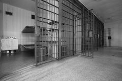 Old Jail Cell Block Stock Photo