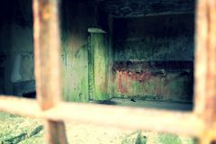 Old jail cell. Gore, creepy, zombie, jail cell Stock Photos