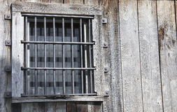 Old jail window Stock Images