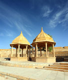 Old jain cenotaph in jaisalmer india Stock Images