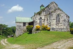 Old Jamaican Church. Old Jamican church on a hill Stock Images