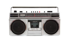 Old jambox on a white background Royalty Free Stock Image