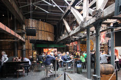 Old Jameson Distillery, Dublin. Pub at the Old Jameson Distillery. The Old Jameson Distillery is an Irish whiskey tourist attraction located just off Smithfield Stock Images