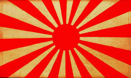 Old Japan flag background 2 Stock Photos