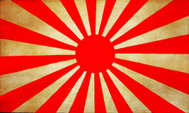 Old Japan flag background 1 Royalty Free Stock Images