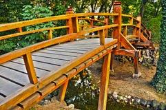 Old japanese bridge. Old traditional wooden japanese bridge Royalty Free Stock Image