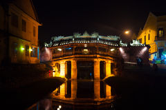 Old japanese bridge at night in Hoi An Stock Photo